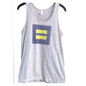 Grey American apparel equality tank top